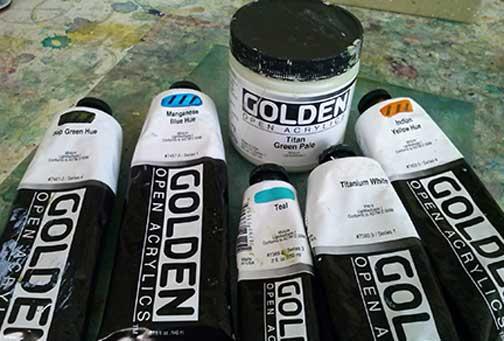 Mono print process colours