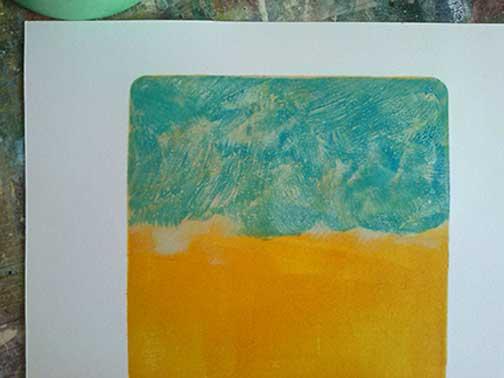 Mono print process 4