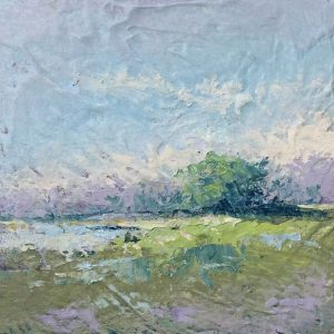"Painting called 'Like Spring' 6"" x 6"" oil and cold wax painting"